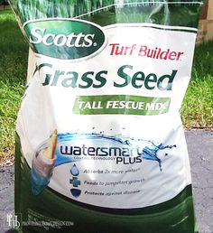 How to Grow Grass- not that I don't know buts it's a good reminder.