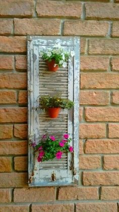 Are Plantation Shutters the Right Choice for Your Windows? – Akma Studio Are Plantation Shutters the Right Choice for Your Windows? Seu lixo é meu luxo Vertical Gardens, Small Gardens, Shutter Projects, Shutter Decor, Old Shutters, Roller Shutters, Diy Planters, Garden Planters, Patio Gardens