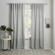 west elm's window curtains bring affordable style to the room. Find drapes and window hardware at west elm. Linen Curtains, Curtains Living Room, Drapes Curtains, Curtains, Kids Curtains, Linen Curtain Panels, Printed Curtains, Home Decor, Cool Curtains