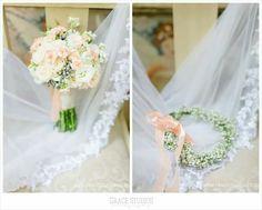 Bridal bouquet {Gabrielle} #pebbleandlace