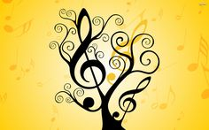musical note with palm tree - Google Search