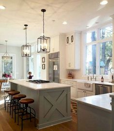 31 Wonderful Farmhouse Kitchen Lighting Decor Ideas And Remodel. If you are looking for Farmhouse Kitchen Lighting Decor Ideas And Remodel, You come to the right place. Below are the Farmhouse Kitche. Farmhouse Kitchen Lighting, Farmhouse Kitchen Cabinets, Kitchen Island Lighting, Modern Farmhouse Kitchens, Home Decor Kitchen, New Kitchen, Home Kitchens, Kitchen Ideas, Farmhouse Ideas