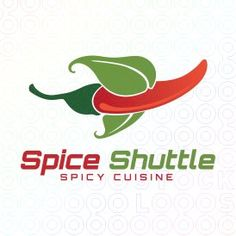 Spice Shuttle - Spicy Cuisine and restaurant logo. Space shuttle humor with both a visual and pun aspect.