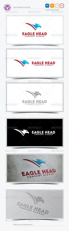 Eagle Head Logo Template — Photoshop PSD #symbol #identity • Available here → https://graphicriver.net/item/eagle-head-logo-template/5583987?ref=pxcr