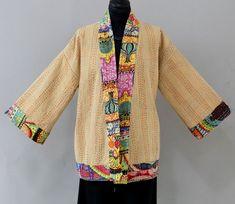 Summer Jacket, Summer Shorts, Kimono Fashion, Kimono Top, Cover Up, Spring Summer, Stitch, Unique, Pattern