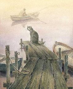 Cat world by Russian artist Vladimir Rumyantsev