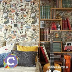 Gosta do estilo vintage? É apaixonada por decoração retrô? Então vem cá dar uma olhada nesse lindo papel de parede da coleção bambinos - bobinex. Lindo, nacional e o melhor, barato! http://www.colei.com.br/produto/1847-colecao-bambinos-papel-vintage-%28ref3320%29