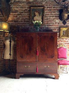 Antique Linen Press Dresser Dwarf Mahogany George III 18th Century 1795