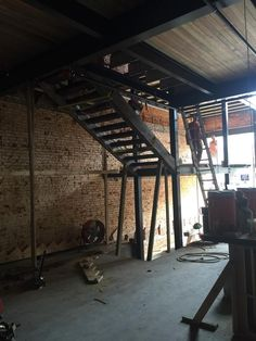 Inside stairs going in Auburn, Stairs, Stairway, Staircases, Ladders, Auburn Brown