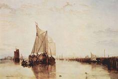 Dort oder Dordrecht: Das von Rotterdam nach Dordrecht fahrende Packetboot in einer Flaute