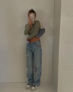 Indie Outfits, Teen Fashion Outfits, Retro Outfits, Cute Casual Outfits, Look Fashion, Summer Outfits, Girl Outfits, Nike Fashion Outfit, Funky Fashion