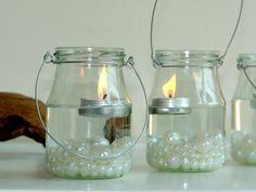 hanging glass mason jars outdoor wedding flooding by aniamelisa, $10.95