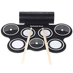 ammoon Silicone Electronic Drum Pad Kit Digital USB MIDI Rollup with Drumstick Foot Pedal 35mm Audio Cable ** Find out more about the great product at the image link.Note:It is affiliate link to Amazon.