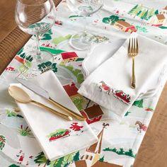 Winter Scene Table Linen Collection | World Market
