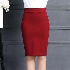 2016 Autumn Winter Women Skirts Formal Office OL Pencil Midi Skirts High Waist Package Hips Sexy Slim Women's Saia Plus Size