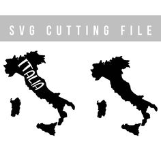 Italia svg file Italy map svg cutting file Cricut svg file map of Italy vector files Vinyl decal files SVG cut map of Italy svg for Cricut by TheBlackCatPrints on Etsy