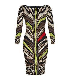 Just Cavalli Coloured Tiger Print Dress