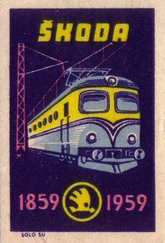 1959 Czechoslovakia matchbox label