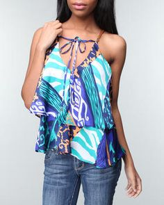 Baby Phat - HI LO DOUBLE CAMI Kimora Lee Simmons, Baby Phat, I Love Fashion, Best Sellers, Fashion Forward, Cami, Tie Dye, My Style, How To Wear