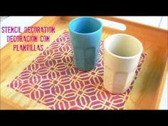 Manualidades y tendencias: Cómo decorar con #plantillas / #Stencil decoration…