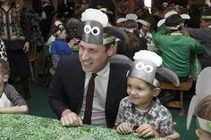 The Duke of Cambridge was feeling a little sheepish as he posed for photographs with a Sha...
