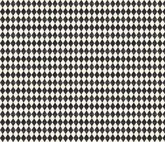 Black and Cream Diamonds fabric by jolenebalyeatdesigns on Spoonflower - custom fabric