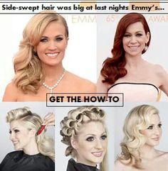 Side swept soft curls