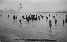 Ice skating near Klamath Falls, Oregon by OSU Special Collections & Archives : Commons, via Flickr