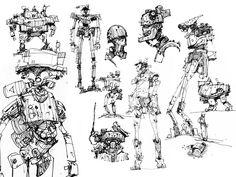 IAN MCQUE | CONCEPT ART: Sketchbook Purge.