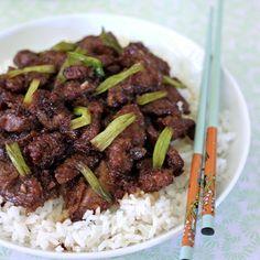 P.F. Chang's Mongolian Beef Recipe  http://www.cinnamonspiceandeverythingnice.com/p-f-changs-mongolian-beef-copycat-recipe/
