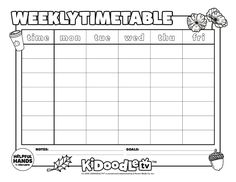 Color this in with your little ones and get into the weekly routine for November! Activity Sheets, Some Fun, Fun Activities, Little Ones, Routine, November, Printables, Tv, Color