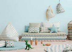 Nobodinoz: Online store for babies, kids and grownups. mattress st-tropez zigzag green - mattress - decoration