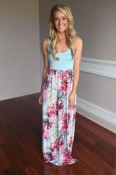 Splash into Summer Maxi Dress~ Blue