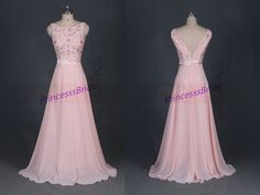 Hey, I found this really awesome Etsy listing at https://www.etsy.com/listing/195114757/2014-long-pearl-pink-chiffon-prom