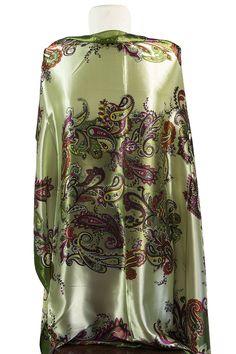 Paisley Vintage Square Hijab - Green