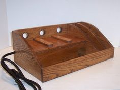 Oak Charging Station for IPAD Kindle Nook Phones MP3 by tomroche, $75.00
