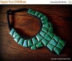 Sale OOAK Ladakh Turquoise Bib Necklace  Northern India Ladakh