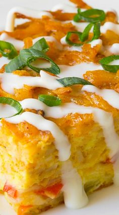 Mexican Breakfast Casserole with Hash Brown Top