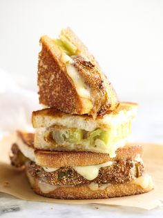 Fried Green Tomato Grilled Cheese
