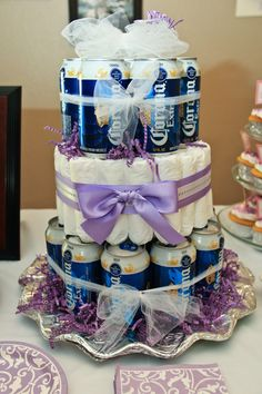Diaper Beer Cake for the BaByQ