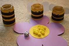 Pollen Counting Game  The activity mimics a bee's important job as pollinator while strengthening counting and one to one correspondence skills at the same time!