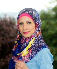 Summery hijab http://www.hayfaglam.com/denim-on-denim/ #hijab #denim #jeans #fashion #hijabi #hijabfashion #scarf #personalstyle