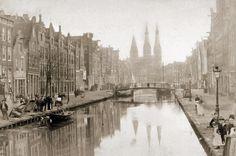Amsterdam, Lindengracht 1895. Voor de demping.