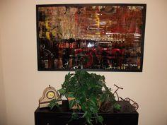 Abstract work by Noel Jones 36 x 48 painting on board. Noel Jones, Abstract Art, Board, Painting, Painting Art, Paintings, Painted Canvas, Planks, Drawings