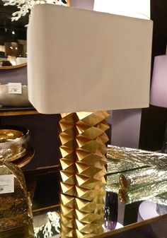 Gold Jackson lamp at Arteriors. High Point Market Spring 2014 Finds We Love at Design Connection, Inc. | Kansas City Interior Design #HPMkt #HPMkt2014 #InteriorDesign http://www.DesignConnectionInc.com/Blog