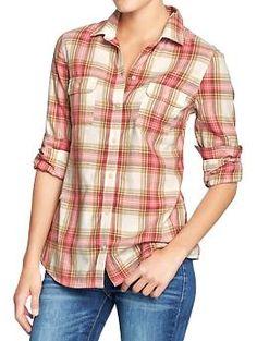Women's Plaid Shirts | Old Navy