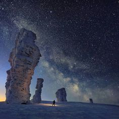 Manpupuner rock formations, Komi Republic, Russia #traveling #travel #travelblog #love #vacation #amazing #love #instadaily #instagood #instalike #insta #photooftheday #russia #russian #snow #bestoftheday #beautiful // Photography by Sergei Makurin