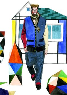 Modeconnect.com - Fashion Illustration by Decue Wu of Vivienne Westwood Fall 2013