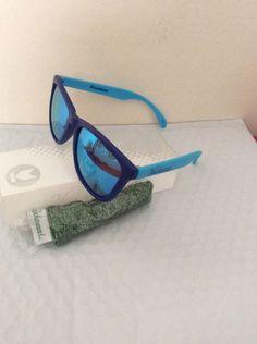 4b6a2831fb3 Details about knockaround sunglasses Dark Blue Light Blue Aqua Classics