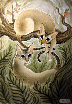 cat art by Jill Hoffman jillhoffman.deviantart.com @deviantart ♥♥